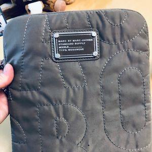 Marc Jacobs iPad case gray embossed